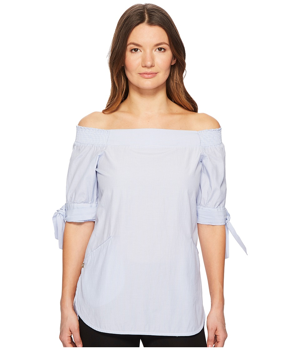 Manila Grace - Off the Shoulder Tunic (Light Blue) Womens Clothing
