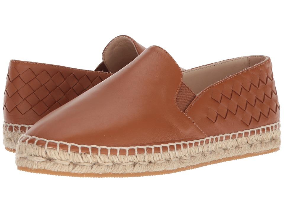 Bottega VenetaIntrecciato Leather Espadrille  (Saddle) Womens Flat Shoes