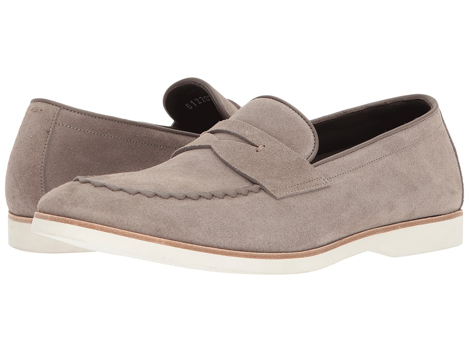 Canali - Suede Penny Loafer (Taupe) Mens Slip on  Shoes