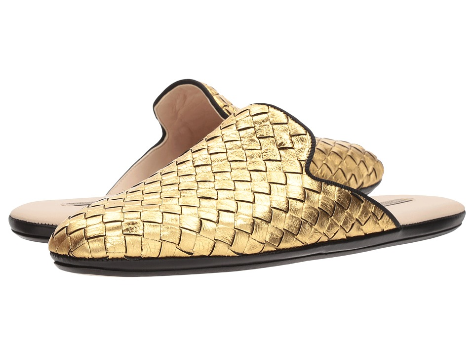 Bottega VenetaIntrecciato Slide  (Light Gold) Womens Sandals