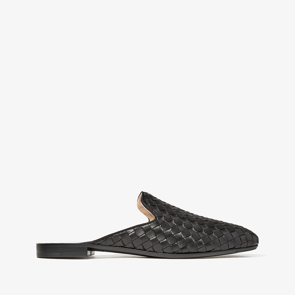 Bottega Veneta - Intrecciato Slide (Black/Black) Women's Sandals