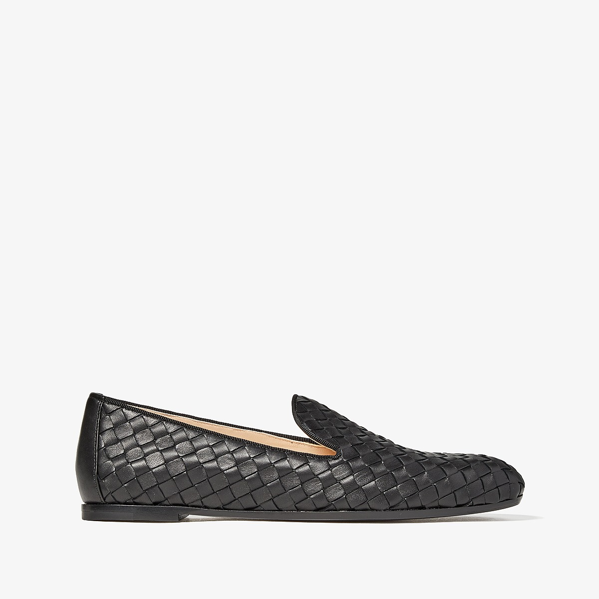 Bottega VenetaIntrecciato Loafer  (Black) Womens Slip on  Shoes