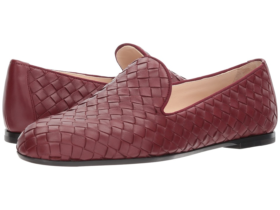Bottega VenetaIntrecciato Loafer  (Gigolo Red) Womens Slip on  Shoes