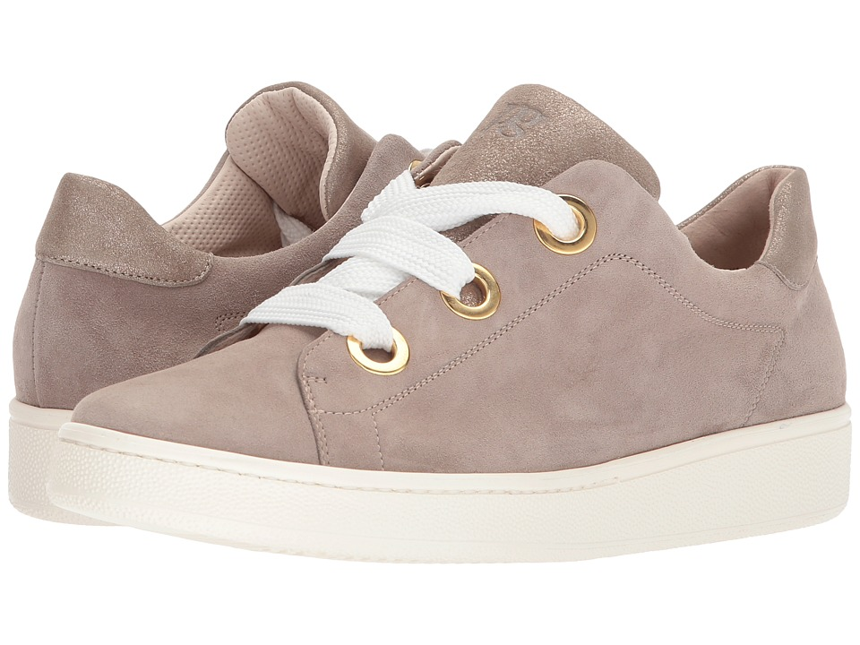 Paul Green Pardo Sneaker Rosewood Champagne Metallic Suede Womens Lace  up casual Shoes