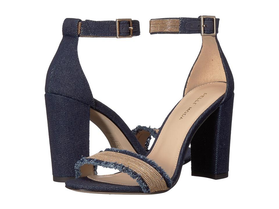 Pelle Moda - Bonnie 6 (Indigo Linen) High Heels