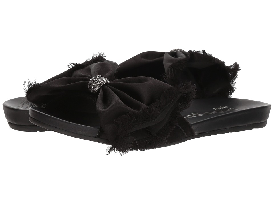 Pedro Garcia - Gabriela 613 (Black Satin) Women's Sandals