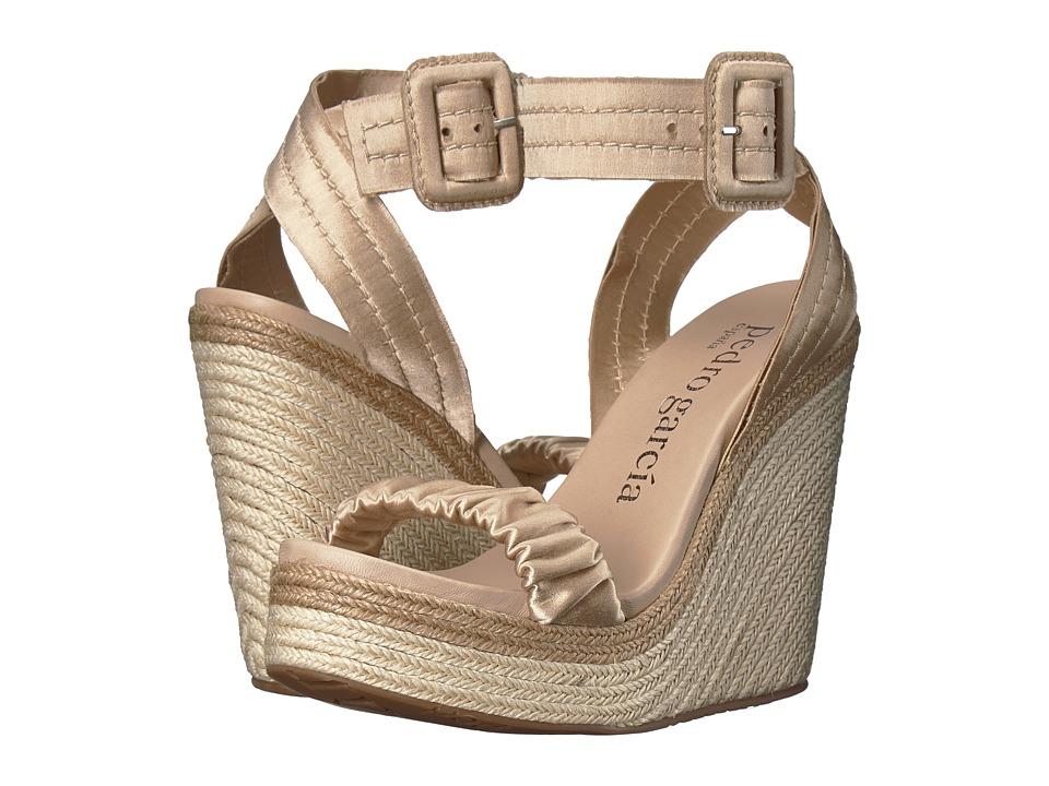 Pedro Garcia - Teodora 617 (Marzipan Satin) Women's Sandals