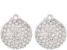 Nina Medium Pave Button Clip Earrings; Elements By Swarovski