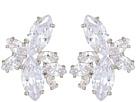 Nina Nina Floral Stone Cluster Stud Earrings