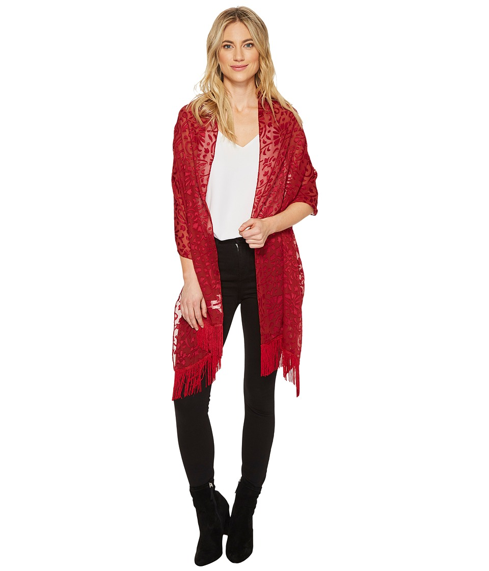 Betsey Johnson Jewel Mesh Wrap (Red) Women's Clothing