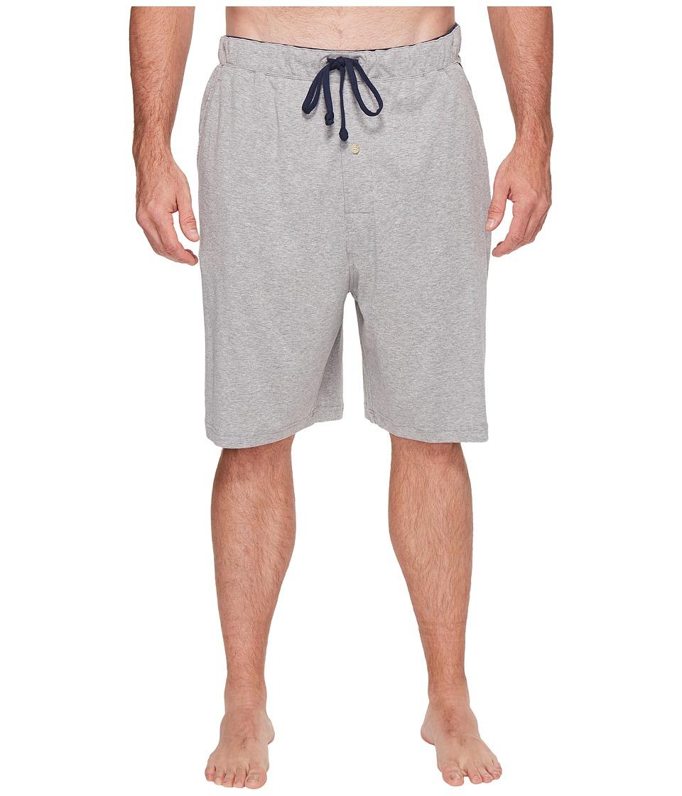 Nautica Big & Tall Big Tall Knit Sleep Shorts (Grey Heather) Men