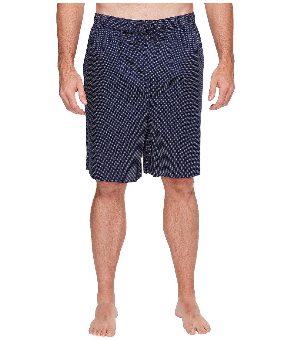 Nautica Big & Tall Big Tall Mediterranean Dot Sleep Shorts (Maritime Navy) Men
