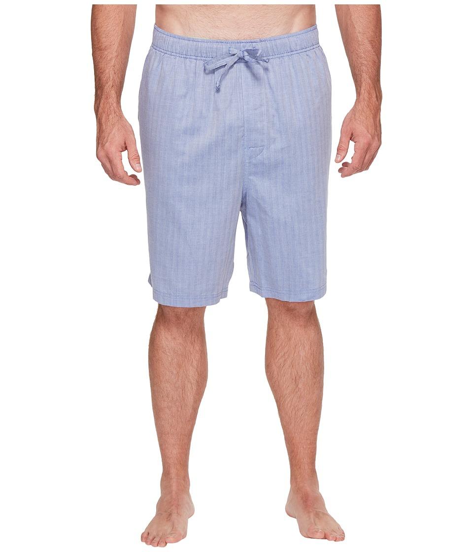 Nautica Big & Tall Big Tall Herringbone Sleep Shorts (Blue Bone) Men