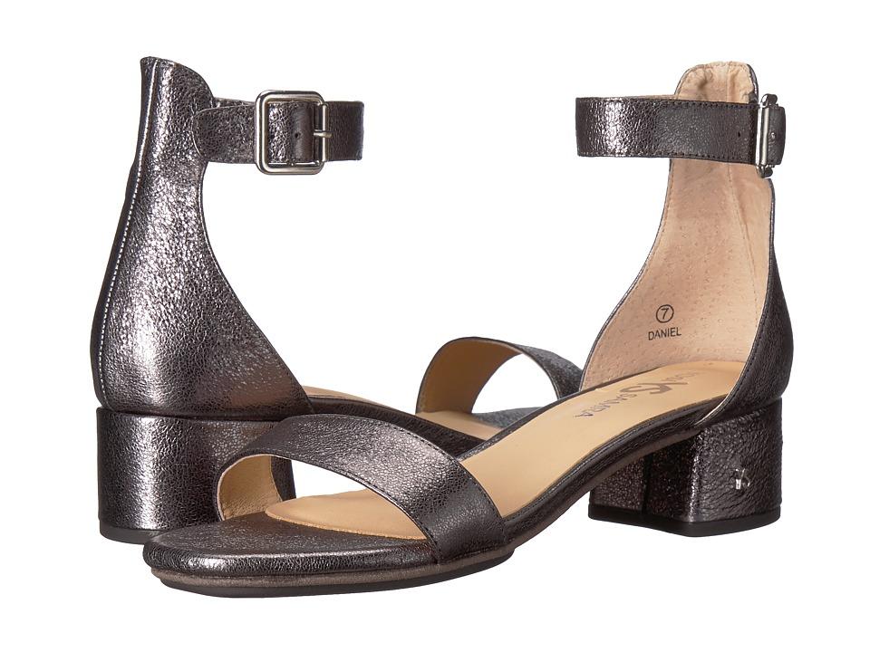 Yosi Samra - Daniel (Pewter Metallic Textured Leather) Women's Dress Sandals