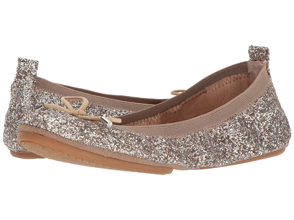 Yosi Samra - Sandrine (Champagne Glitter) Womens Flat Shoes