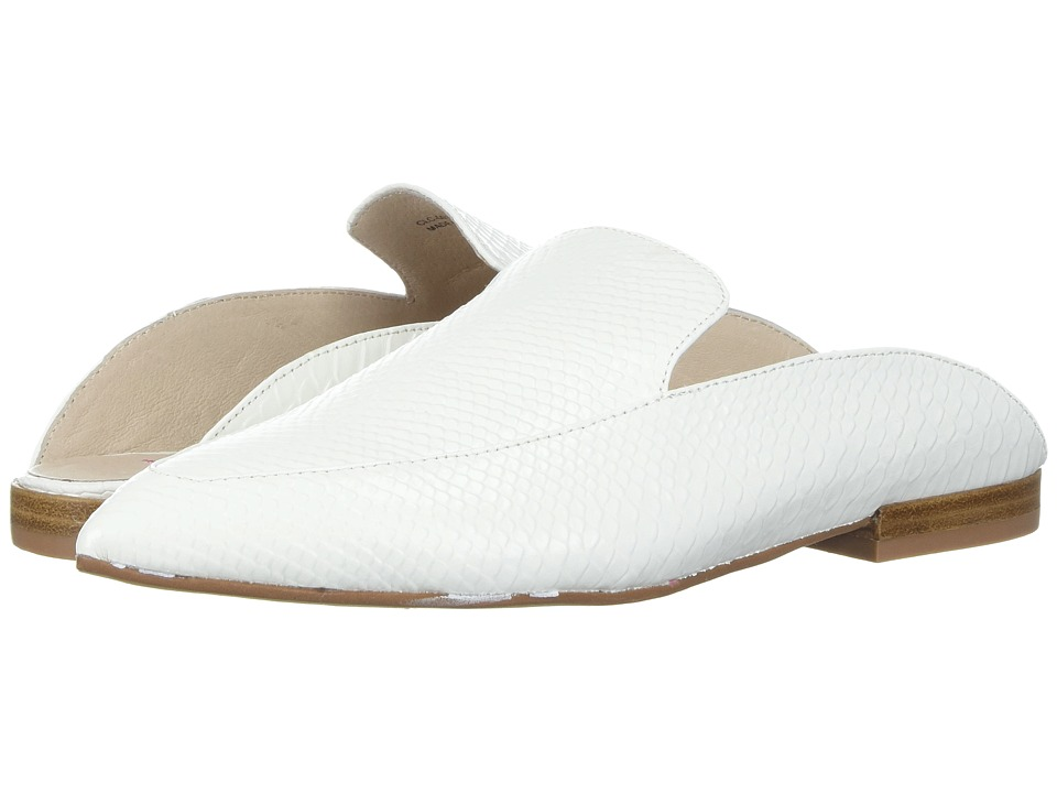 Kristin Cavallari Capri Mule (White Snake Leather) Slip-On Shoes