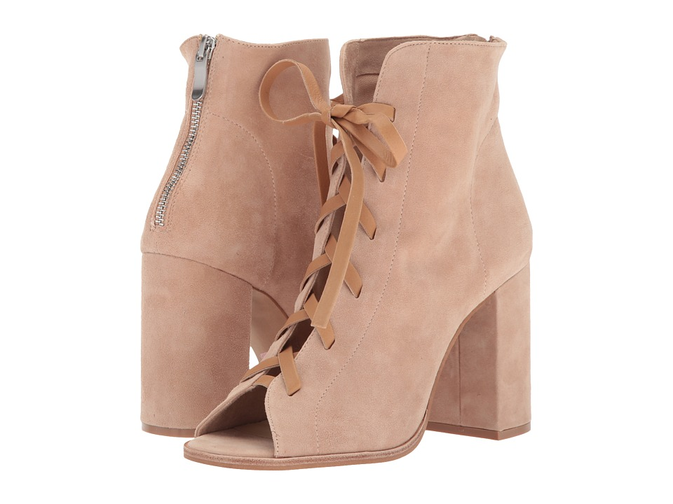Kristin Cavallari Layton Peep Toe Bootie (Tiger's Eye Kid Suede) Women's Dress Boots