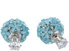 Nina Nina Front To Back Flower Ball Earrings