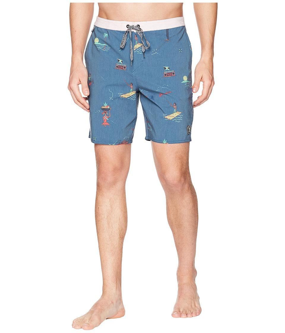Roark - Chiller Tourister Boardshorts (Navy) Mens Swimwear