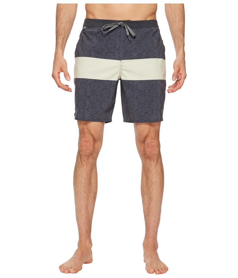 Roark - Chiller Sharrons Hotspot Boardshorts (Black) Mens Swimwear