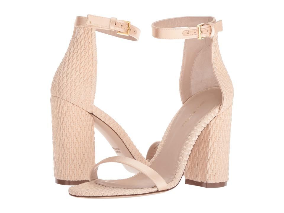 Stuart Weitzman Nuquilt (Blush Silk Satin) Women's Shoes