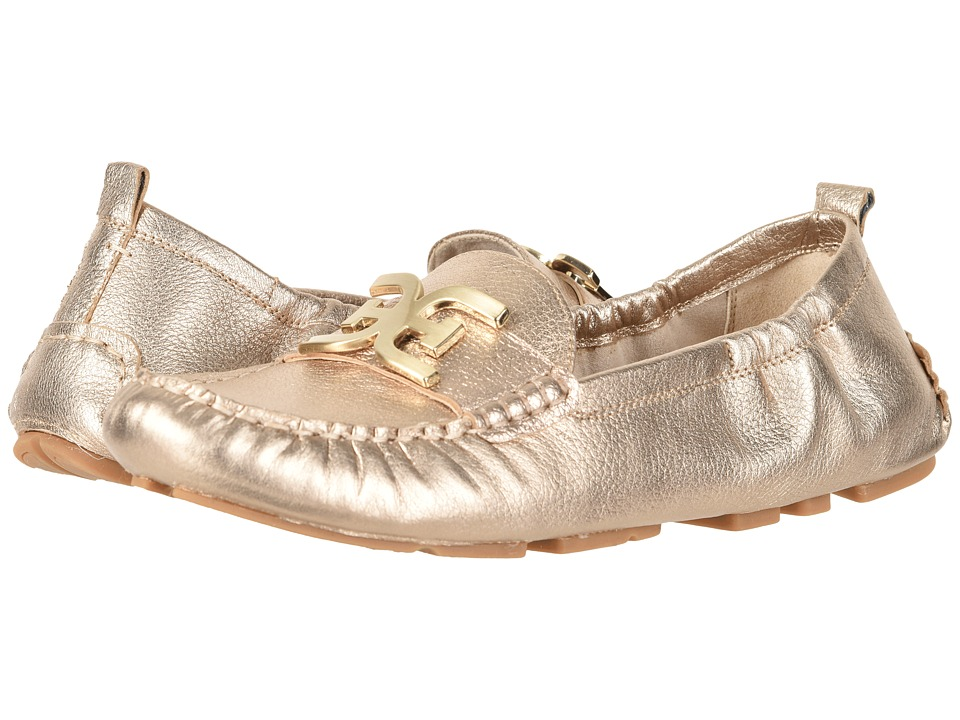 Sam Edelman - Farrell (Dark Molten Gold Tumbled Opal Metallic Leather) Womens Moccasin Shoes