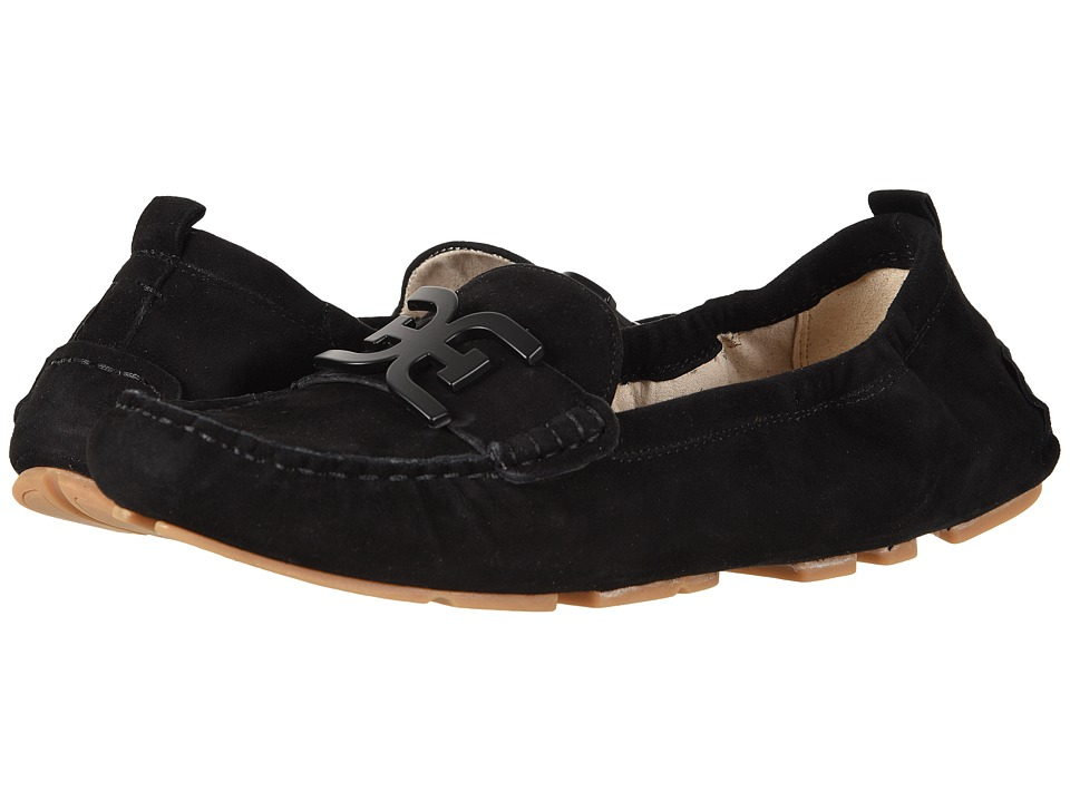 Sam Edelman Farrell (Black Kid Suede Leather) Women's Moccasins