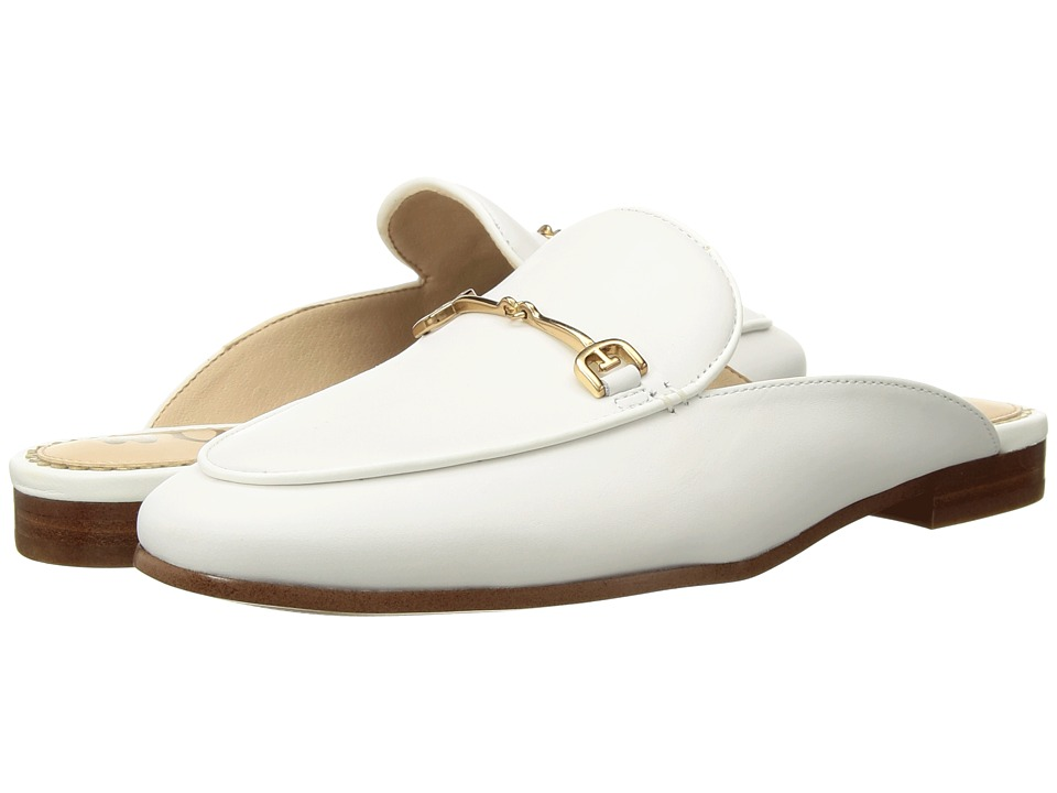 Sam Edelman - Linnie (Bright White Dress Nappa Leather) Womens Clog/Mule Shoes