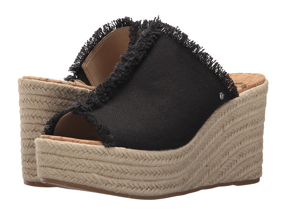 Sam Edelman - Dina (Black Casual Washout Canvas) Womens Shoes