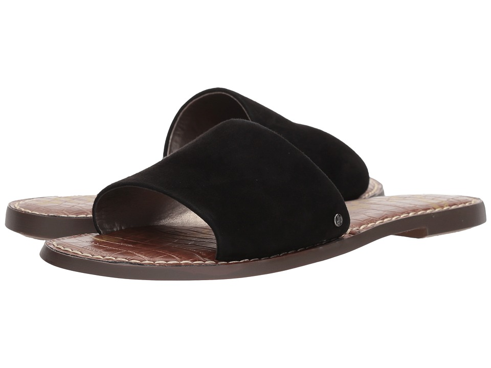 Sam Edelman Gio (Black Kid Suede Leather) Slides