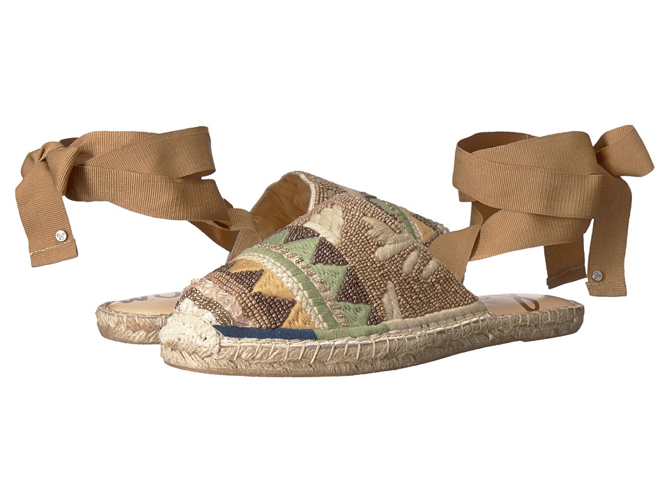 Sam Edelman - Karolyn (Putty/Natural Multi Embellished Canvas) Womens Flat Shoes