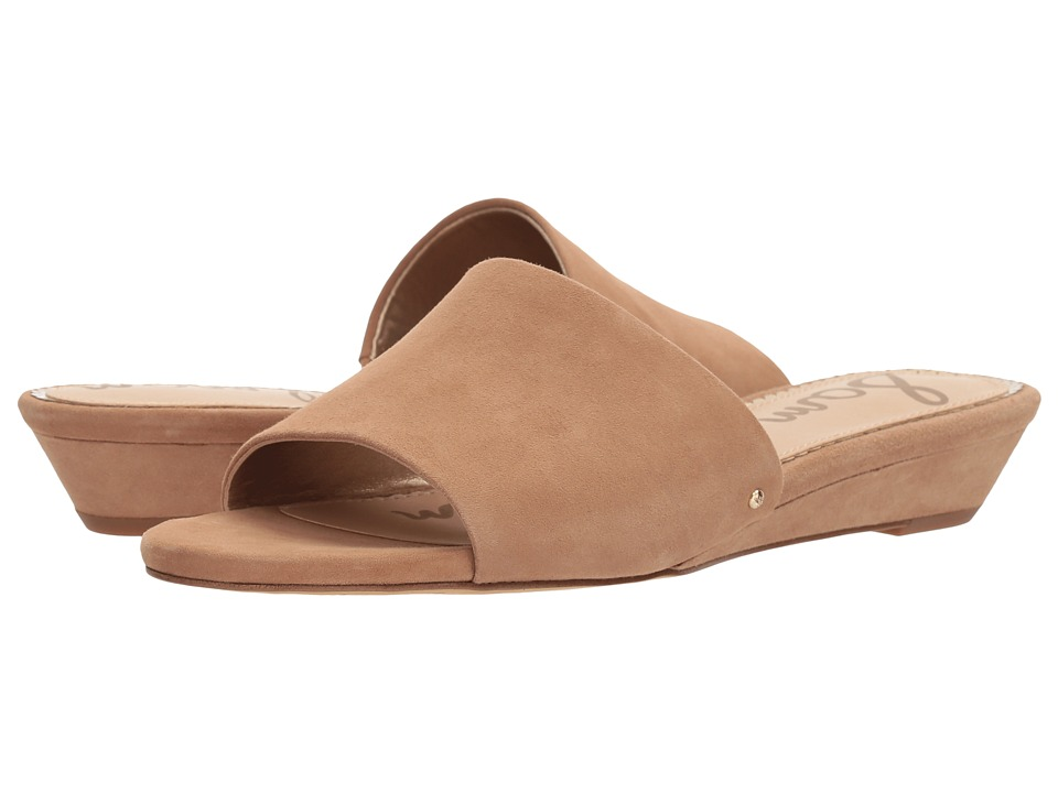 Sam Edelman - Liliana (Golden Caramel Kid Suede Leather) Womens Slide Shoes
