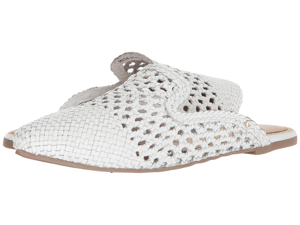 Sam Edelman - Navya (White Woven Leather) Womens Clog/Mule Shoes