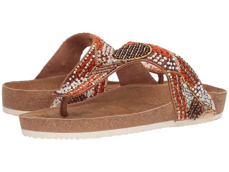 Sam Edelman - Olivie 4 (Saddle/Red Mutli Satin) Womens Shoes