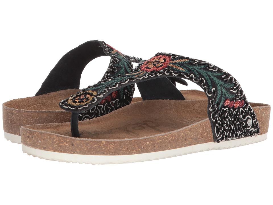 Sam Edelman - Olivie 3 (Black/Black Multi Canvas) Womens Shoes