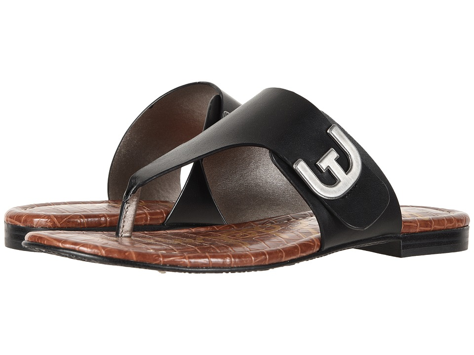 Sam Edelman Barry (Black Vaquero Saddle Leather) Sandals