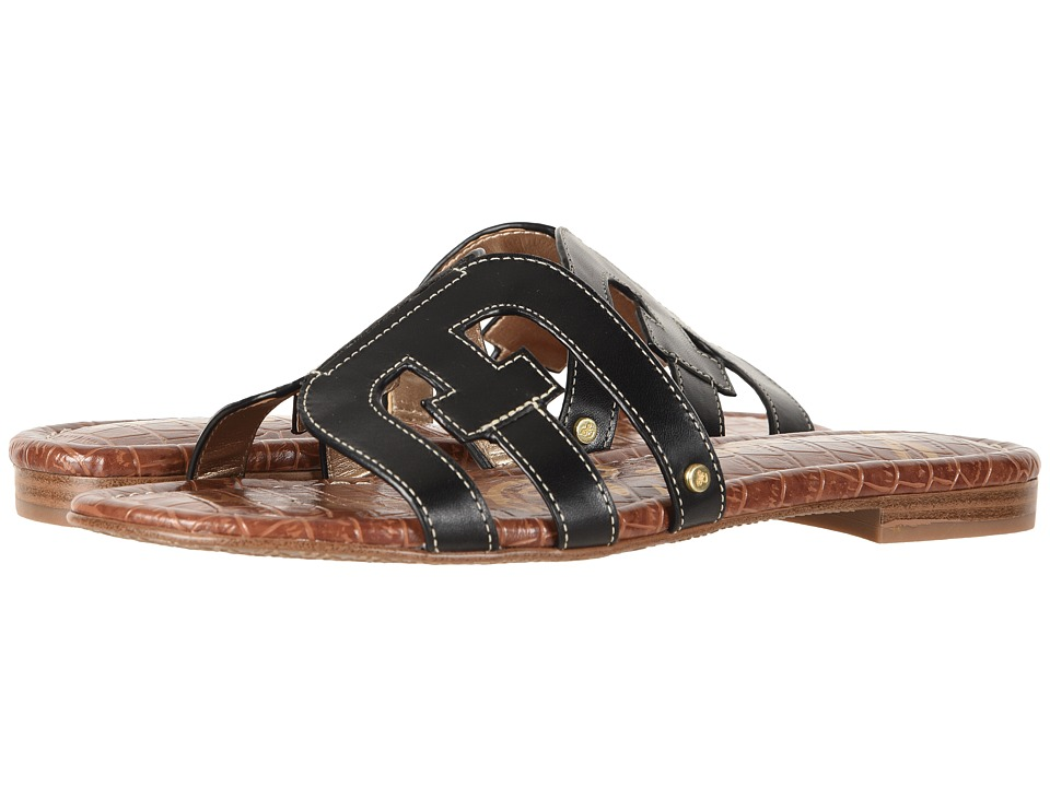 Sam Edelman Bay (Black Vaquero Saddle Leather) Slides