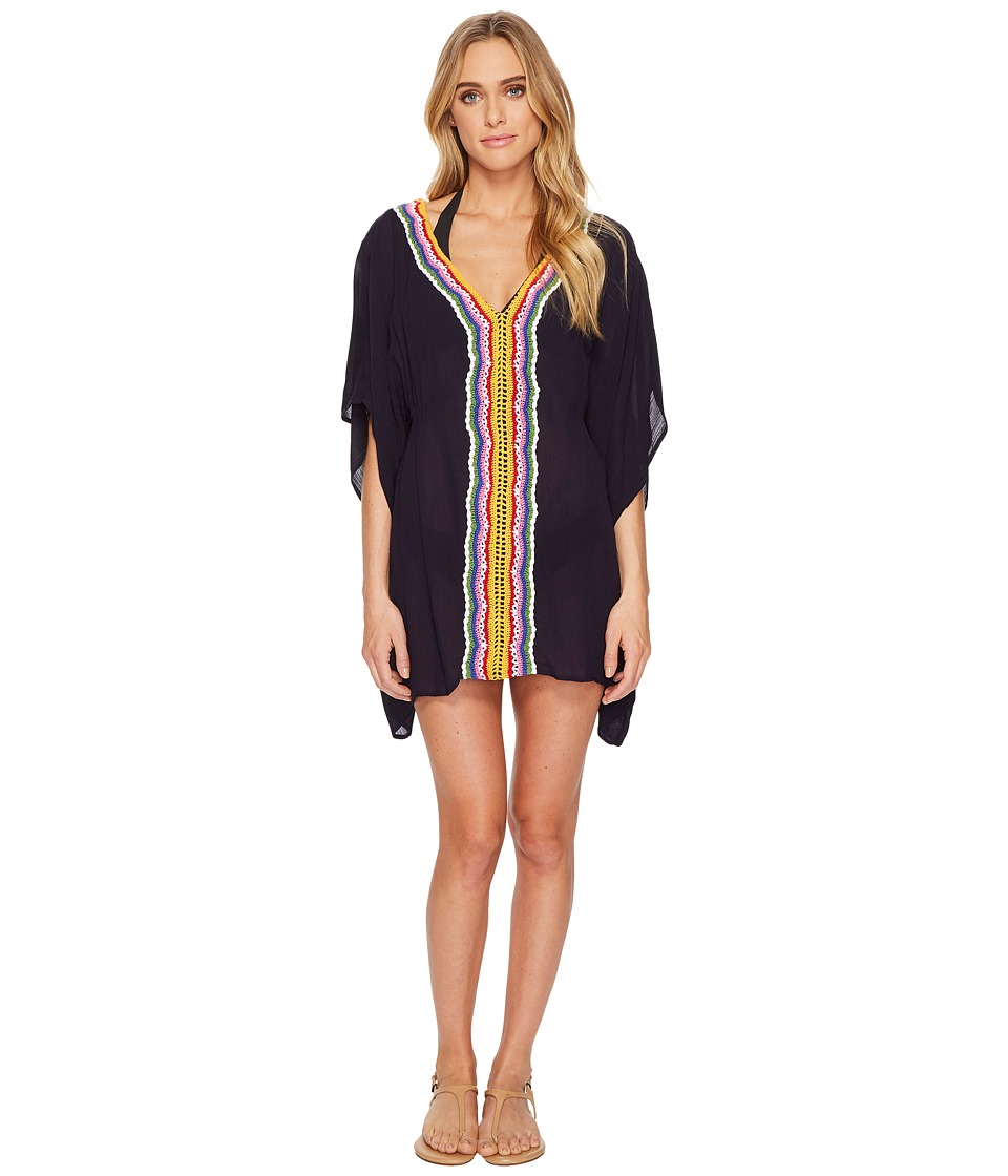 Nanette Lepore Peace Love Caftan Cover-Up (Denim) Women