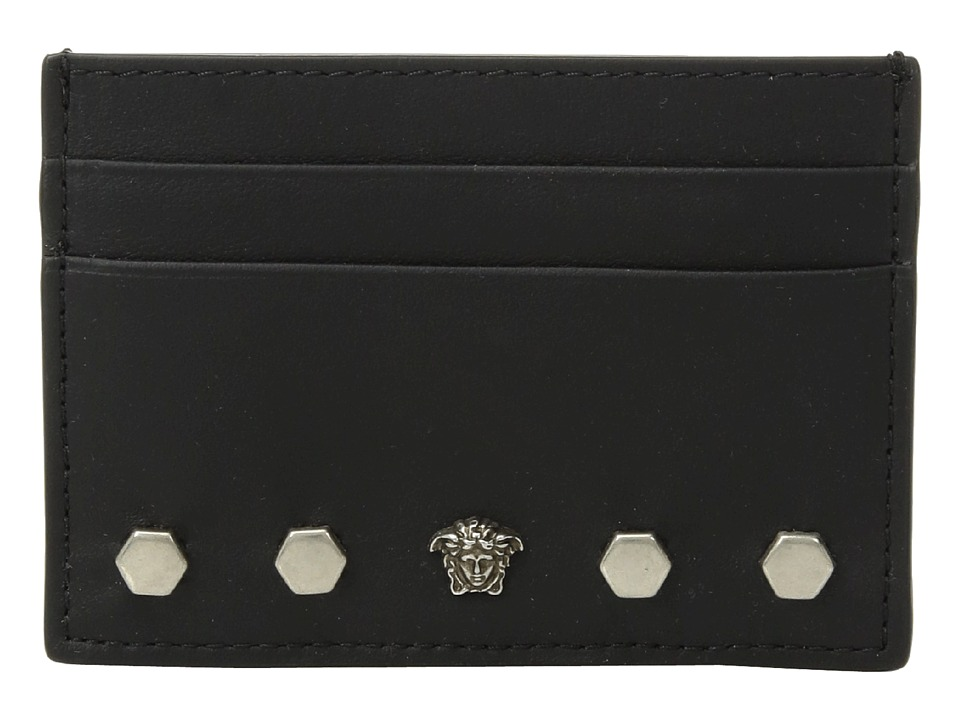 Versace - Studded Card Case (Black) Wallet