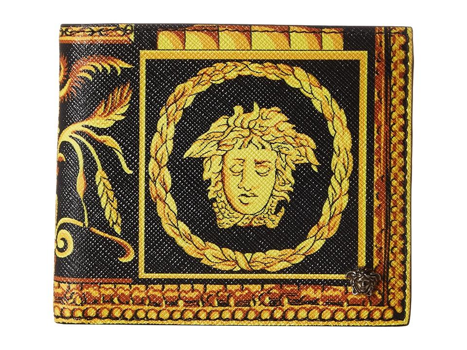 Versace - Printed Bifold Wallet (Black/Gold) Bi-fold Wallet