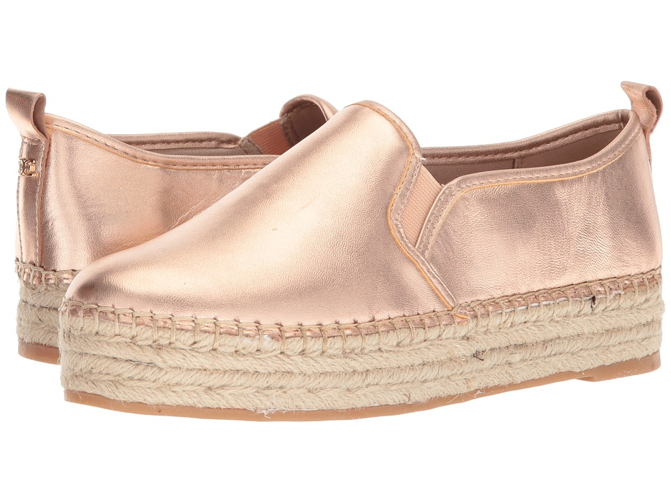 Sam Edelman - Carrin (Blush Gold Soft Metallic Sheep Leather) Womens Slip on  Shoes