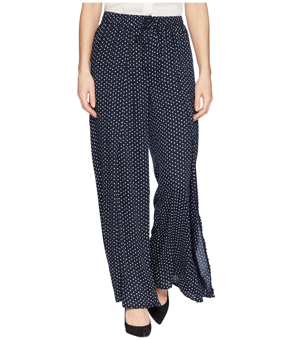 B Collection by Bobeau - Ita Polka Dot Pants (Navy) Womens Casual Pants