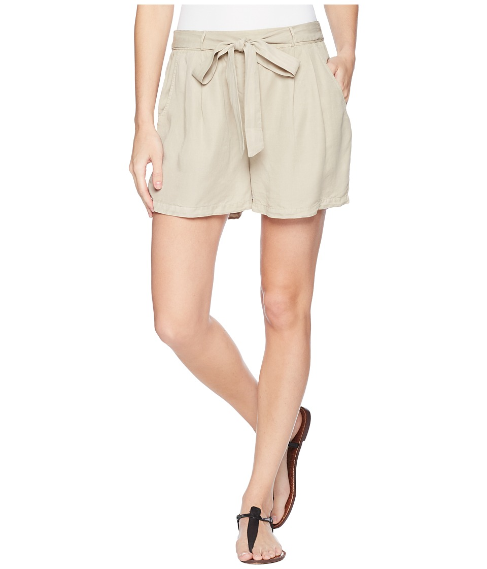 B Collection by Bobeau - Bianca Self Belt Shorts (Stone) Womens Shorts