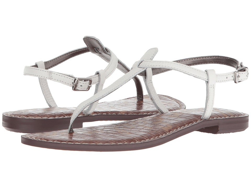 Sam Edelman Gigi (Bright White Neymar Tumbled Leather) Sandals