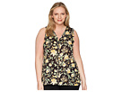 B Collection by Bobeau Plus Size Lily Pleat Back Top