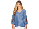 B Collection by Bobeau Frankie Embroidered Sleeve