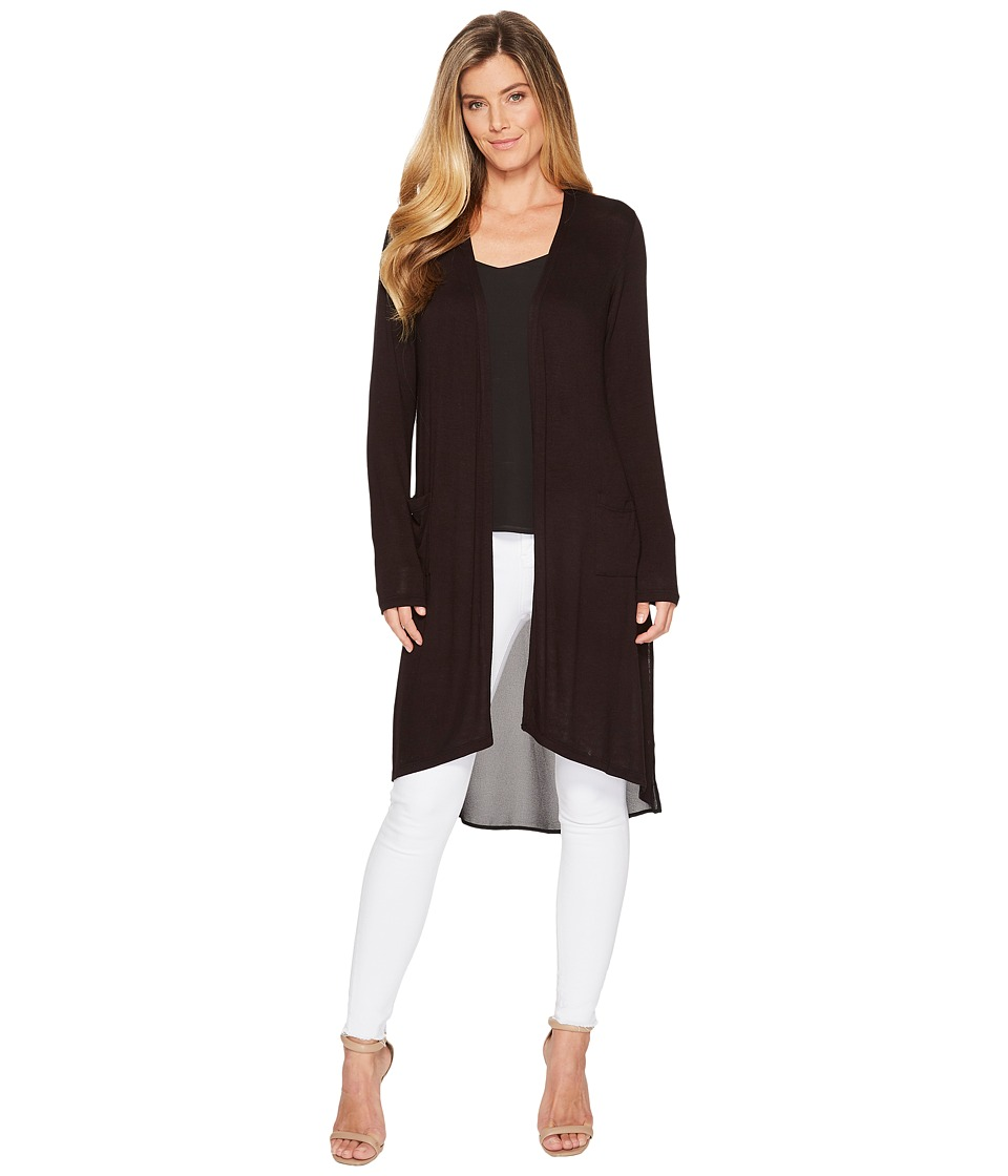 Image of B Collection by Bobeau - Addison Knit Duster (Black) Women's Clothing