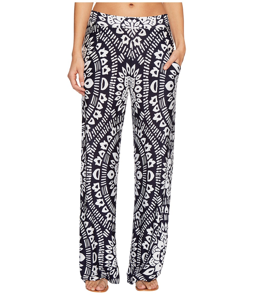 Trina Turk Indochine Wide Leg Pant Cover-Up (Midnight)