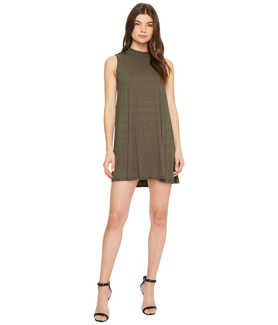 Culture Phit Emma Sleeveless Striped Dress (Black/Olive) Women