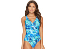 LAUREN Ralph Lauren Exotic Paisley Twist Underwire One-Piece